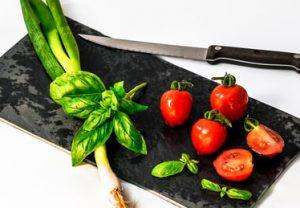 CBD pasta with fresh ingredients